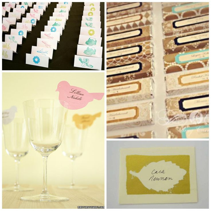 16 DIY Wedding Place Cards