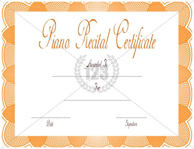Certificate template 502 pinterest piano recital certificate template download free or premium certificate templates yelopaper