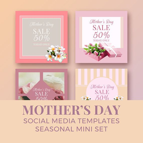Mother's Day Social Media Templates / seasonal mini set /