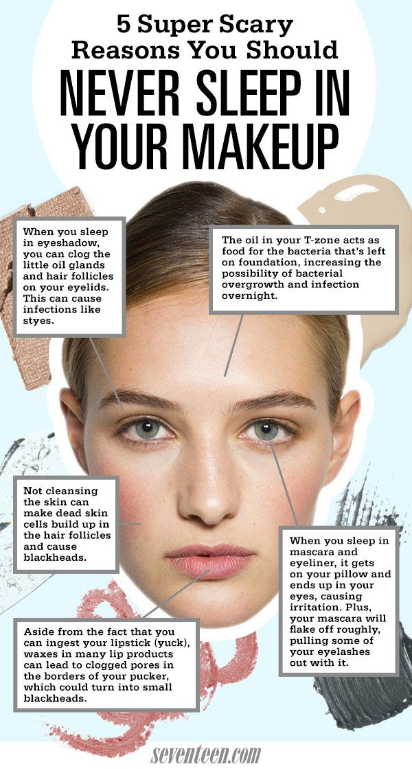 5 Reasons Never To Sleep In Your Makeup - Reasons To Wash Your Face At Night - Seventeen