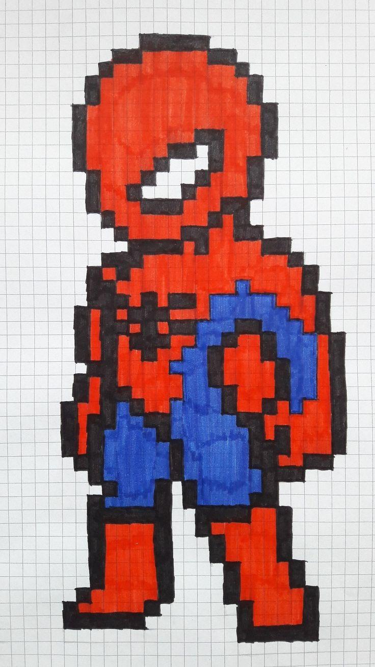 вопрос картинки как нарисовать человека паука по клеточкам женщина остается женщиной