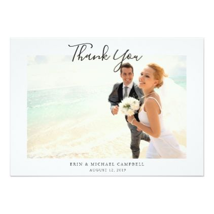 Stylish Chic Hand Lettered Wedding Thank You Card - wedding invitations diy cyo special idea personalize card