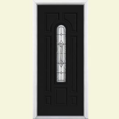 $ 465 - Masonite 36 in. x 80 in. Providence Center Arch Painted Steel Prehung Front Door with Brickmold-22259 - Jet Black (ECC-10-2) - The Home Depot.  http://www.homedepot.com/p/Masonite-36-in-x-80-in-Providence-Center-Arch-Painted-Steel-Prehung-Front-Door-with-Brickmold-22259/202874127