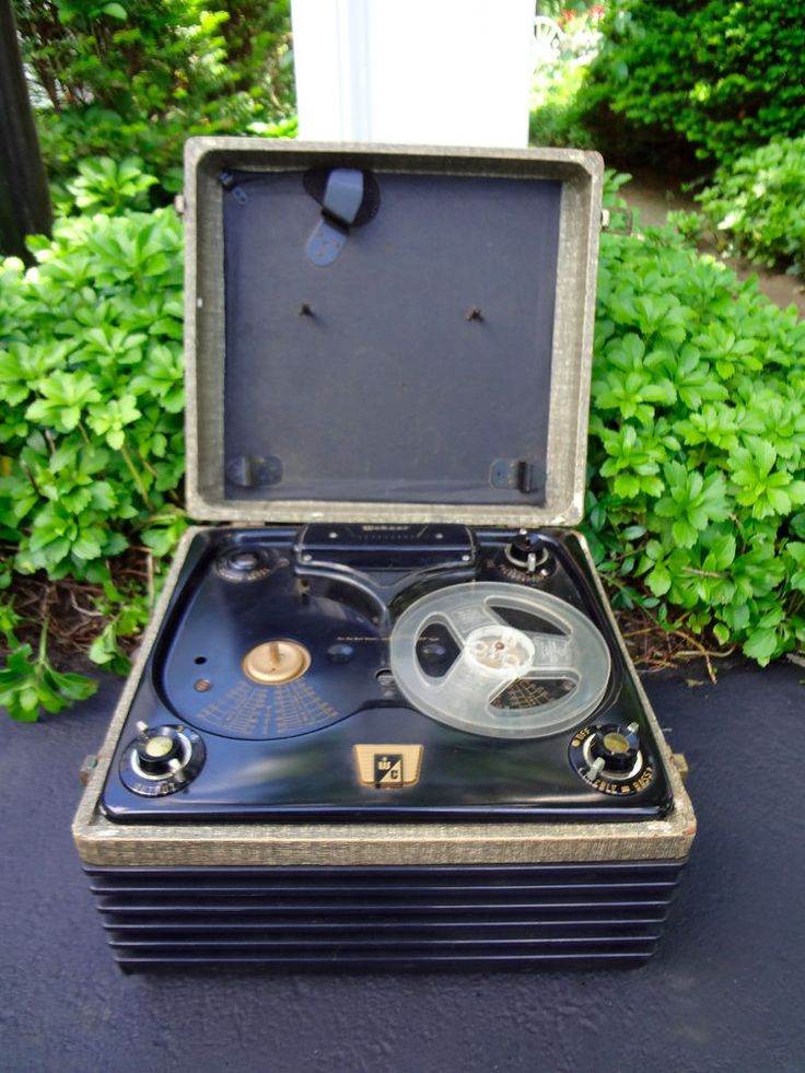 VINTAGE 1950'S WEBCOR CHICAGO 2110-1 REEL TO REEL TAPE RECORDER PLAYER AMPLIFIER #WEBCOR