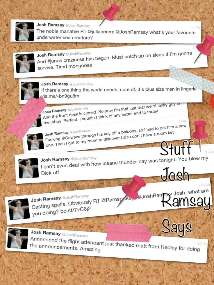 Stuff Josh Ramsay Says