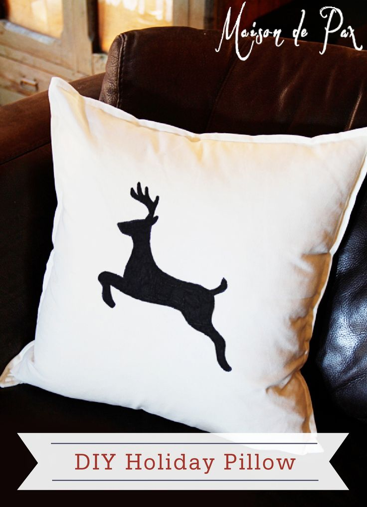 This simple DIY Holiday Pillow would make a great addition to your holiday home décor or as a thoughtful gift for a family member or friend!