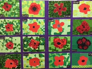 Our Anzac poppies