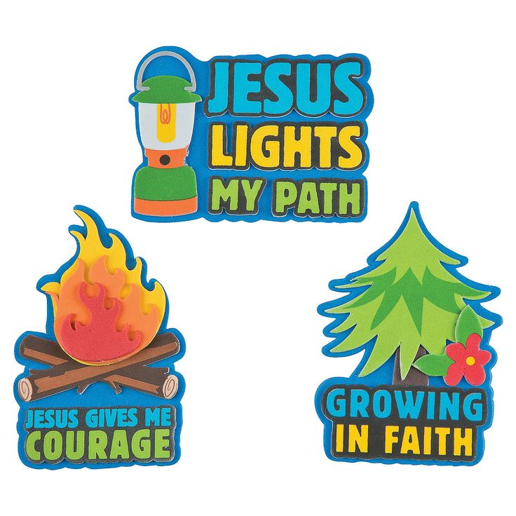 This would have made great themes as well.  Camp Courage Magnet Craft Kit - OrientalTrading.com $5.00 makes 12