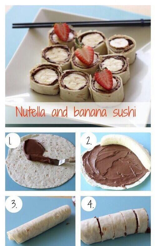 Nutella and banana sushi :)