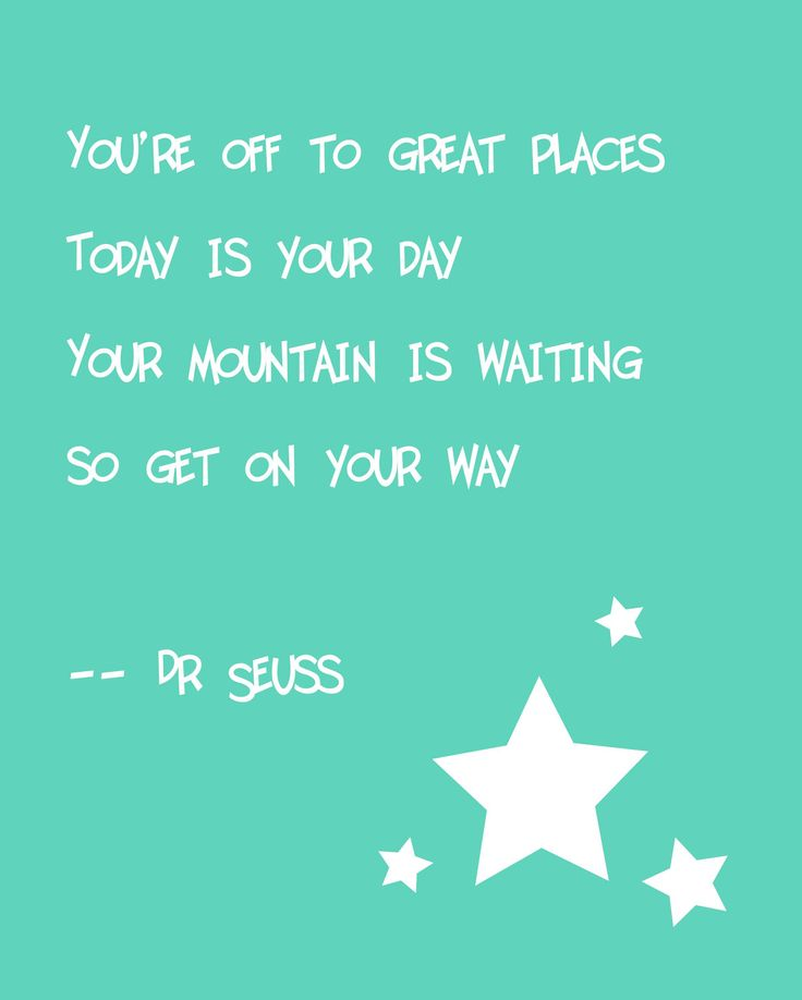 Dr Seuss Quote Print. $18.00, via Etsy.
