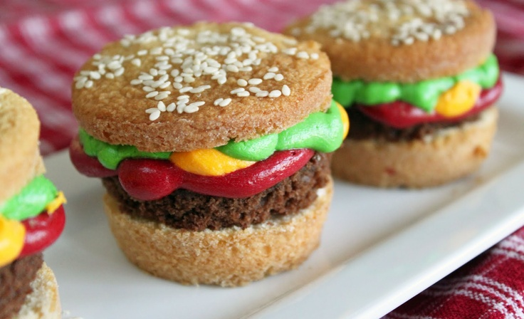Tailgate Hamburger Cupcakes #TexasTech Football | Cupcakes-Not Cause I ...