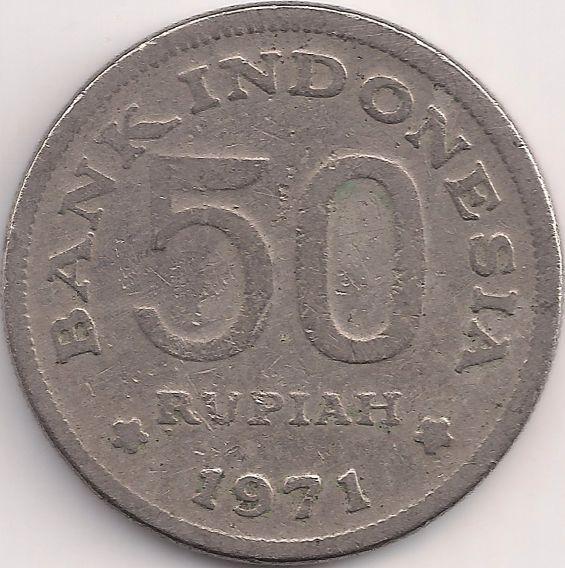 Wertseite: Münze-Asien-Indonesien-Rupiah-50.00-1971