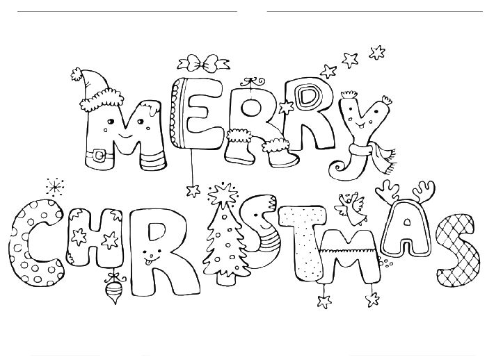 Merry Christmas Or A Great Letter Coloring Page