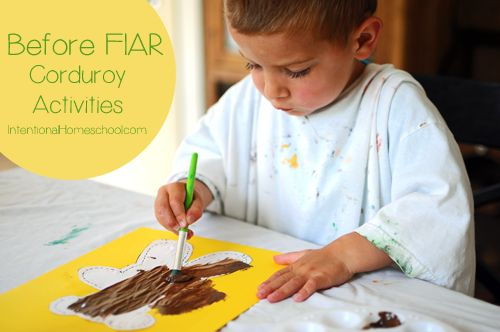 Before Five in a Row: Corduroy activity ideas!