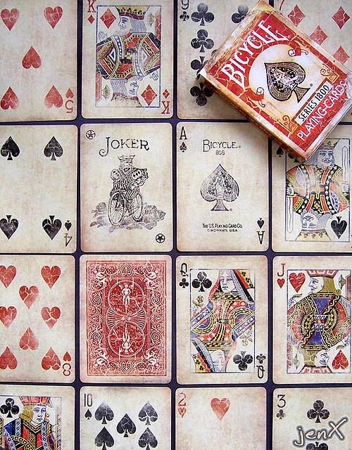 Bicycle Playing Cards | Red Vintage Series 1800