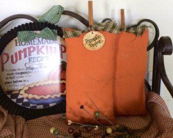 Primitive pumpkin shelf sitter by CraftsbyNa on Etsy
