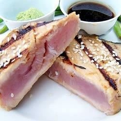 Easy, great tasting tuna coated with sesame seeds, and quickly seared. This tuna is served rare, so be sure to use a good quality fresh tuna.