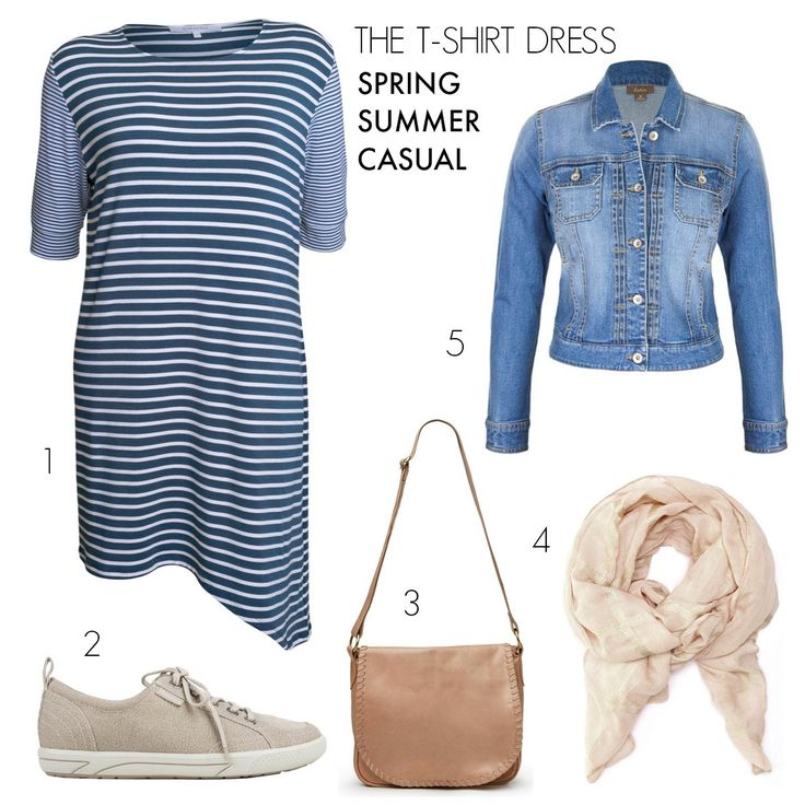 T-shirt dress | casual outfits to take you from spring to summer