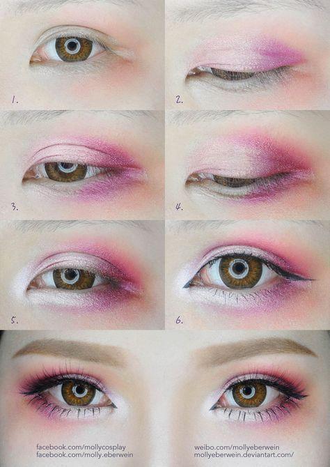 Cherry Blossom Eyes Makeup Tutorial von mollyeberwein