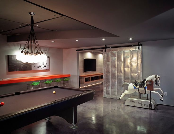 48 best finished basements images on pinterest finished for Modern basement ideas