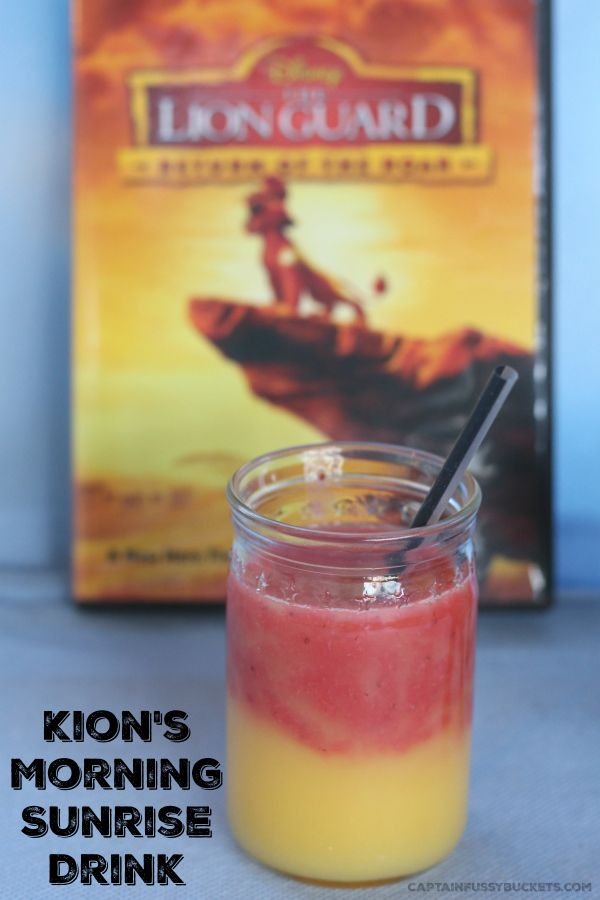 "Practice your roar with Kion! Celebrate the release of the newest DVD from @Disney, ""The Lion Guard: Return of the Roar,"" with this delicious recipe for Kion's Morning Sunrise Drink! Great for the whole family for breakfast, snack, a Lion Guard birthday party, or anytime!"