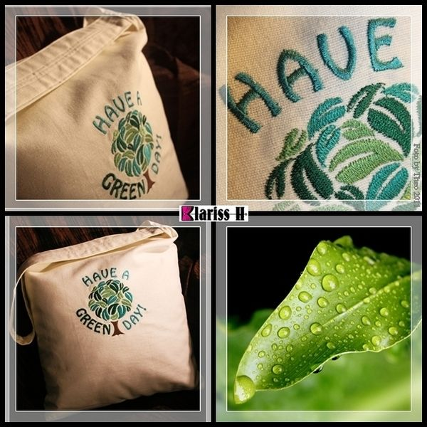 Have a green day eco-bag  from Klariss H Design by DaWanda.com