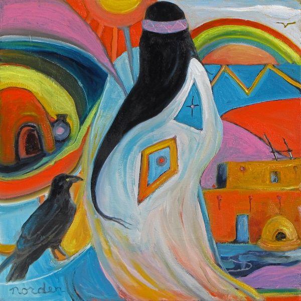 Rainbow Spirit with Raven ~ by Marilu Norden