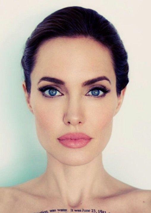 cosmetic tattooed angelina jolie Thin Eyebrow Tattoo
