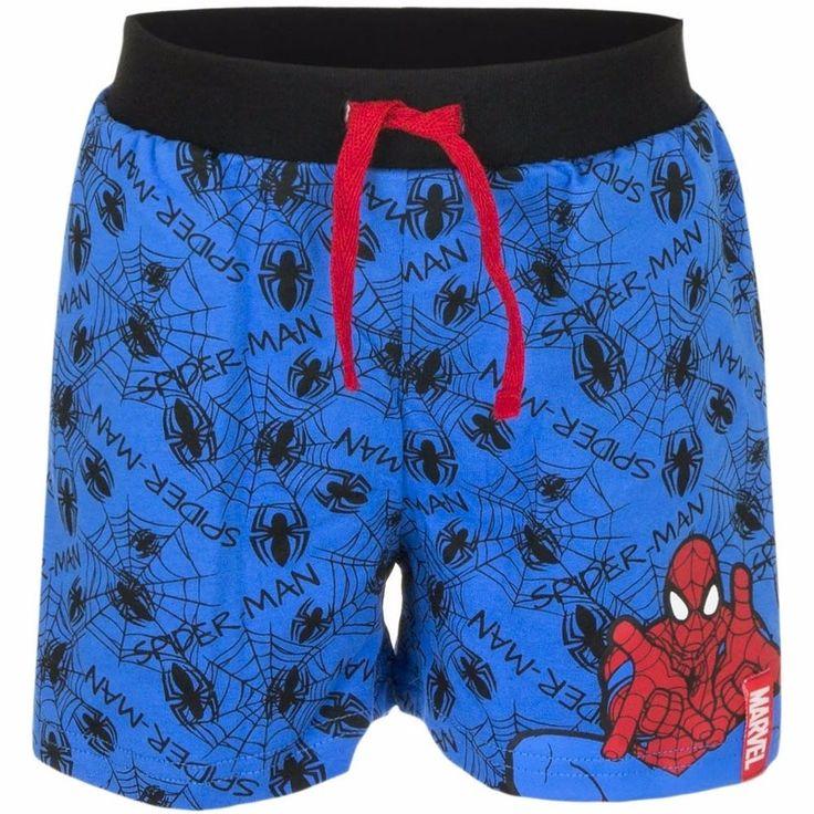 Spiderman shorts blauw voor jongens  Deze blauwe korte broek heeft een opdruk van de superheld Spiderman en is gemaakt van 100% katoen. 260 grams.  EUR 9.50  Meer informatie  #sinterklaas #zwartepiet