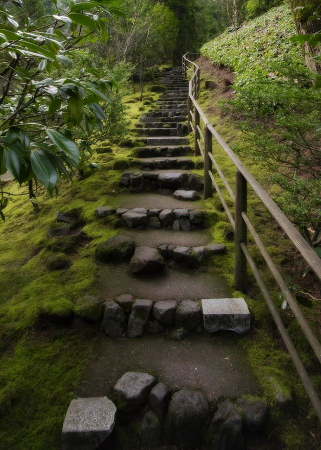 Stairs - Japanese Gardens, Portland, Oregon