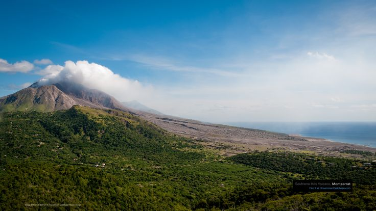 Caribbean Wallpaper Wednesday: Montserrat's Volcanic Running Inspiration