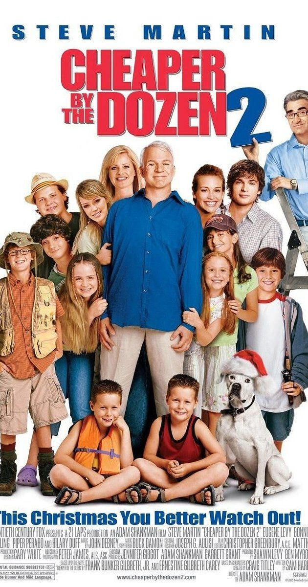 Directed by Adam Shankman.  With Steve Martin, Bonnie Hunt, Hilary Duff, Eugene Levy. The Bakers, while on vacation, find themselves competing with a rival family of eight children.