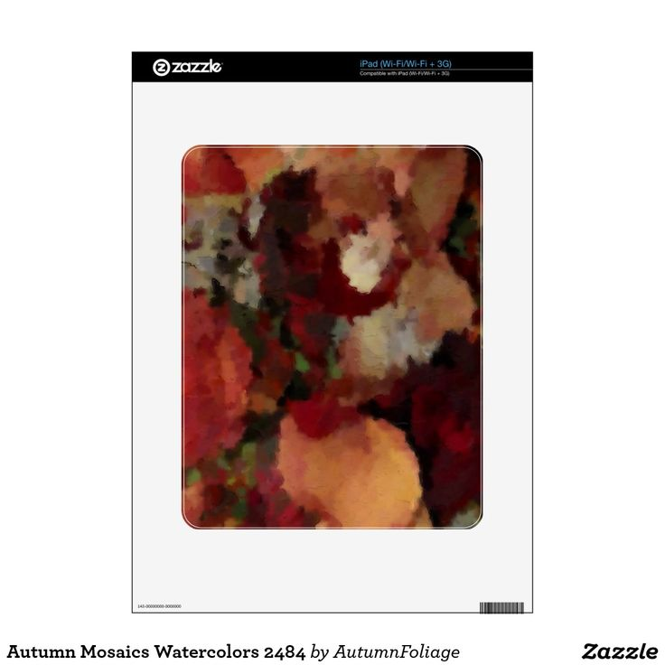 Autumn Mosaics Watercolors 2484 Decals For The iPad