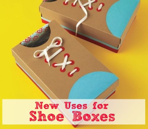 Save those old shoe boxes! They can do more than just store your shoes, discover six new uses!