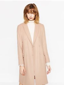 Zara Masculine Coat Pale Pink New Collection 2016 | eBay