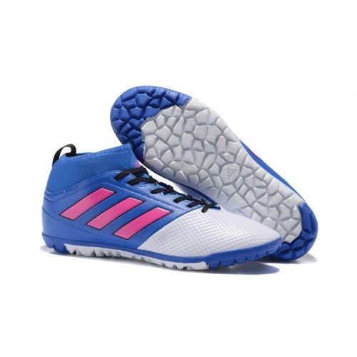 2017 cheap adidas ace 17.3 tf football boots white blue pink online sale