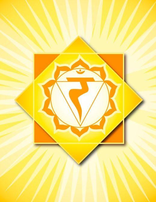 Solar Plexus Chakra   Solar Plexus Chakra Image - Chakra Symbols and Sanskrit Names