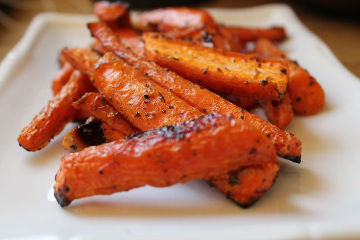 I love this roasted carrot recipe! It's a great easy way to get some veggies on the dinner table. Roasting the carrots with garlic brings out a whole new flavor. You can also eat the roasted garlic cloves in this recipe. Roasting makes the garlic tender and delicious! About my …Share this: