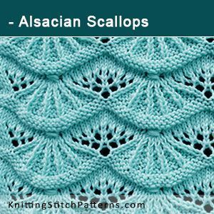 Alsacian Scallops. Free Knitting Pattern includes written instructions and video tutorial.