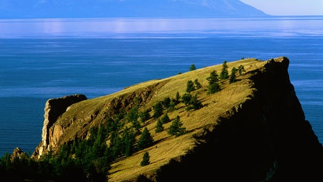 Lake Baikal, Russia. The oldest and deepest lake on earth. Holds 20% of the world's fresh water- more than all the Great Lakes combined.