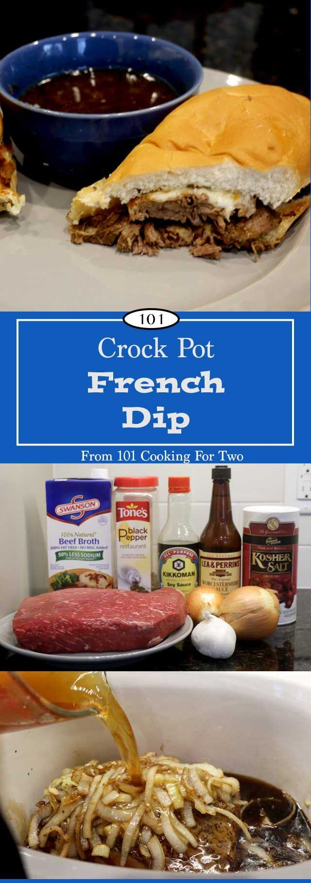 Crock Pot French Dip from 101 Cooking for Two                                                                                                                                                                                 More
