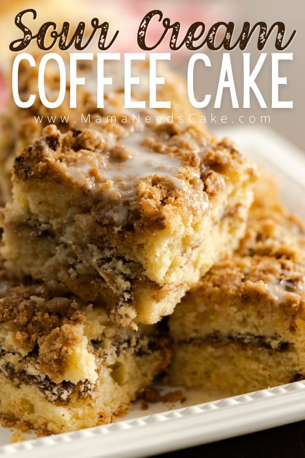 Sour Cream Coffee Cake Recipe In 2020 Sour Cream Coffee Cake Coffee Cake Healthy Dessert Recipes