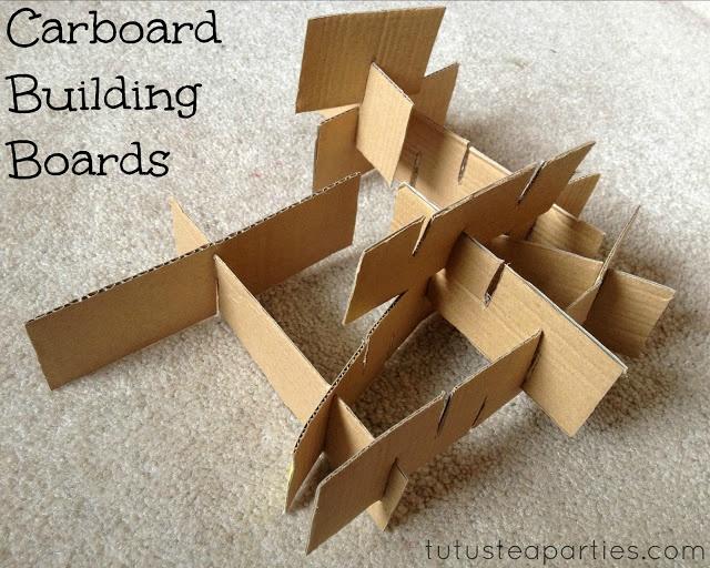 Cardboard Building Boards ~ Tutus & Tea Parties
