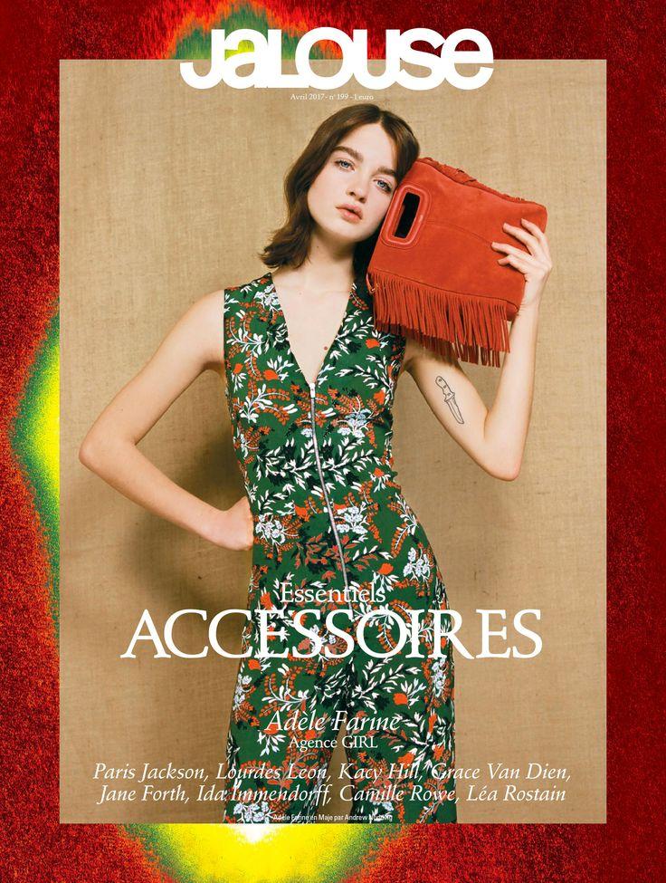 PENNY printed jumpsuit & Maje M bag, SS17, Jalouse, Adèle Farine