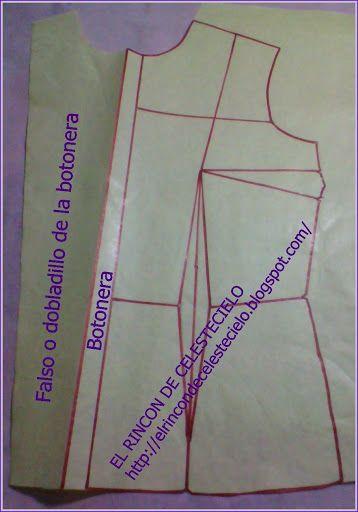 El Rincon De Celestecielo: Botonera o monte para botones, como proceder al trazar