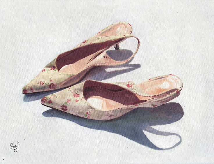"""Saatchi Online Artist: Sue Cook; Oil, Painting """"Change your shoes, change your life II"""" #nyfw"""