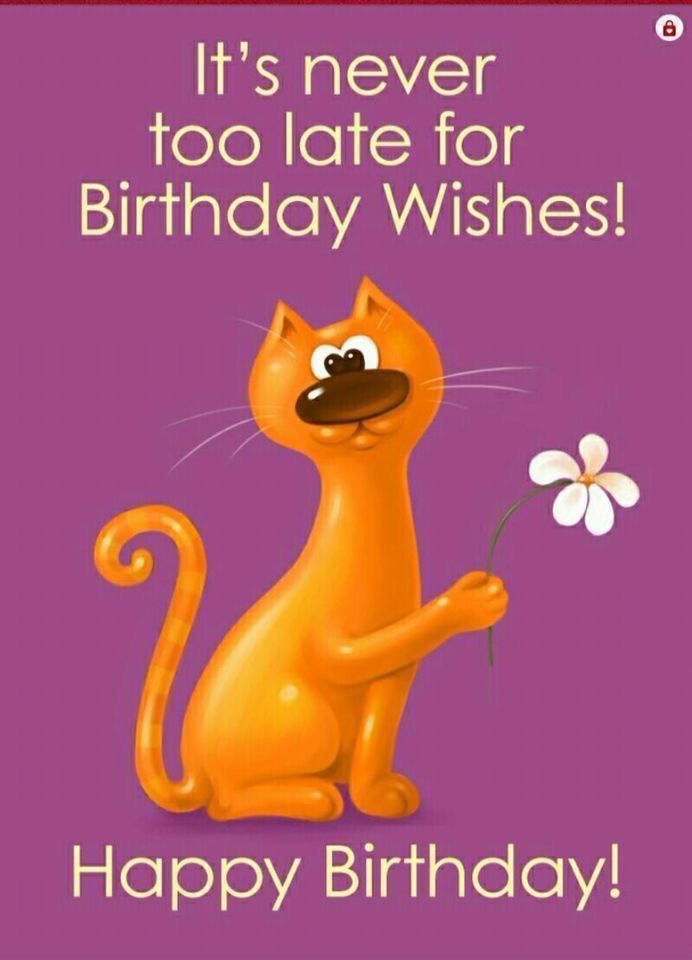 Funny Belated Birthday Wishes Image By Catherine Missey On