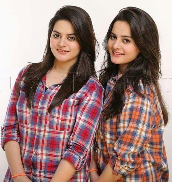 Cute Twin Sisters Aiman Khan & Minal Khan