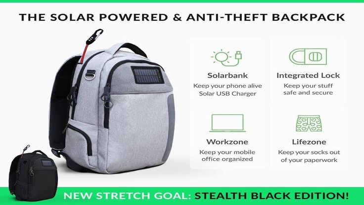 Lifepack: Solar Powered & Anti-Theft Backpack