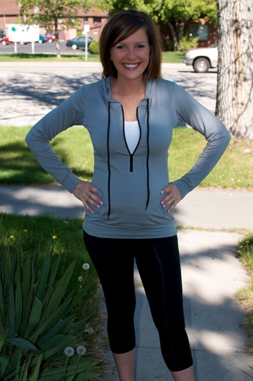 @Janae Jacobs sporting our Etheb Hoodie and Crop Leggings! Looks great!